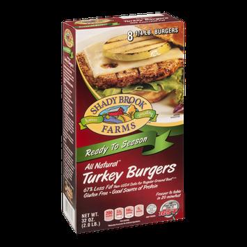 Shady Brook Farms All Natural Turkey Burgers Ready to Season - 8 CT