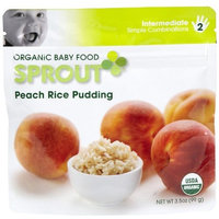 Sprout Organic Baby Food, Peach Rice Pudding, Stage 2, 3.5-Ounce Pouches (Pack of 12)