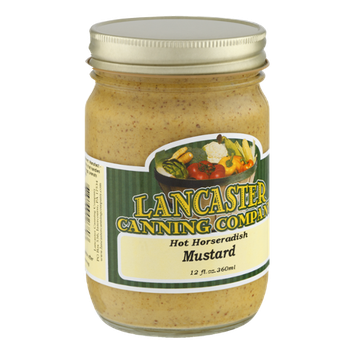 Lancaster Canning Company Hot Horseradish Mustard