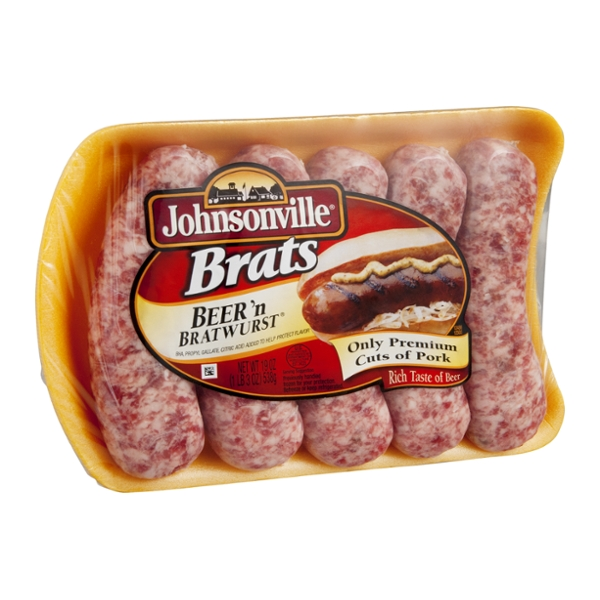 Johnsonville Brats Beer n' Bratwurst - 5 CT