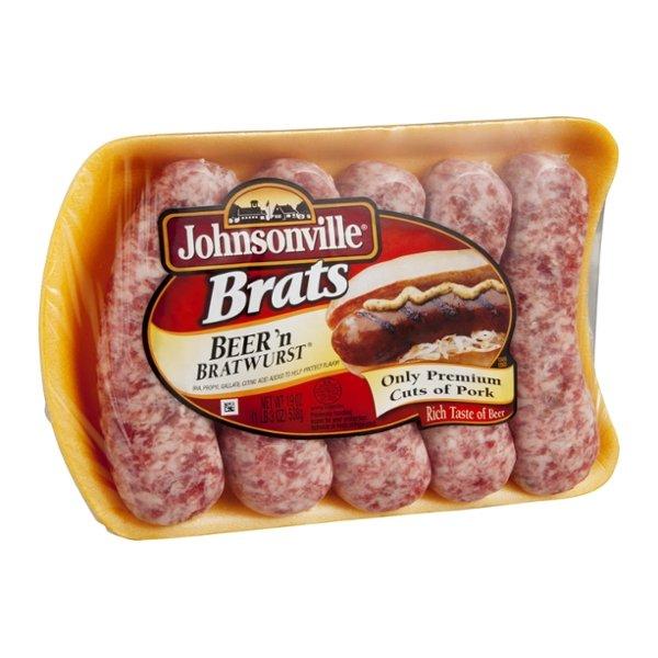 Johnsonville Brats Beer n' Bratwurst - 5 CT
