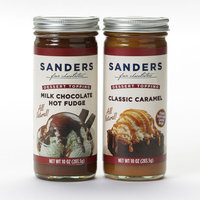 Sanders Hot Fudge And Caramel Topping Gift Set