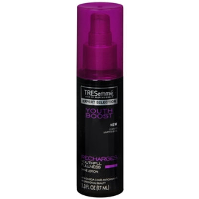 TRESemmé Expert Selection Youth Boost Recharges Youthful Fullness Shine Lotion