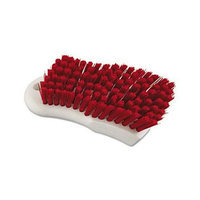 Boardwalk Red Polypropylene Bristle Scrub Brush