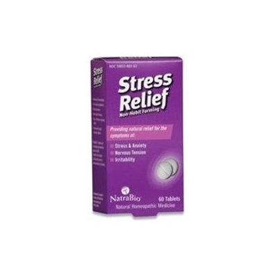 NatraBio Stress Relief Non-Habit Forming - 60 Tablets