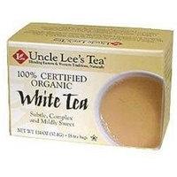 Uncle Lees Tea 0670752 100 Percent Certified Organic White Tea 18 Tea Bags 1.02 oz - 29 g - Case of 6 - 18 Bag