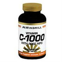 Vitamin C 1000 mg with Rose Hips, 100 Tablets, Windmill Health Products
