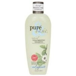 Pure Basic Natural Volumizing Shampoo, Cool Peppermint, 12 oz, Pure & Basic