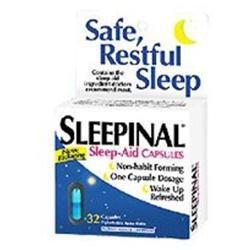 Sleepinal Night-Time Sleep Aid, Maximum Strength, Capsules, 32 ct.
