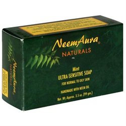 NeemAura Naturals - Bar Soap Ultra-Sensitive For Normal To Oily Skin Mint - 3.3.