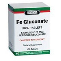 Fe Gluconate 5 Grains 325 mg, 100 Tablets, Windmill Health Products
