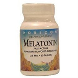 Melatonin 2 5 Mg Sublingual Pepperment Tablets, By Horizon Nutraceuticals - 60 Ea