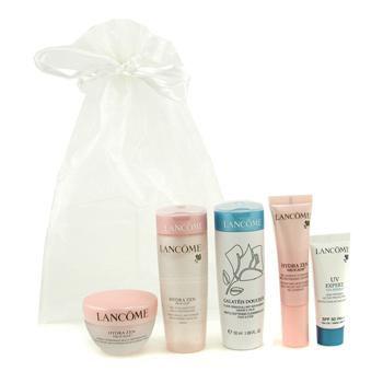 Lancôme Travel Set: Galateis Douceur + Hydrazen Cream + Hydrazen Aqua Gel + Hydrazen Essence + UV Expert 5pcs