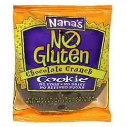 's Cookies Nana's No Gluten Chocolate Crunch Cookie, 3.5 oz, 12 pk
