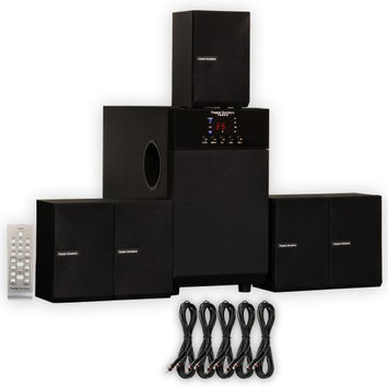 Theater Solutions TS509 Home Theater 5.1 Speaker Surround System with Five 25' Extension Cables TS509-5