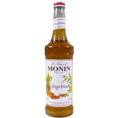 Monin Flavored Syrup, Gingerbread, 33.8-Ounce Plastic Bottles (Pack of 4)