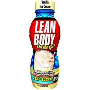 Labrada Lean Body On the Go Hi-Protein Nutrition Shake RTD Vanilla Ice Cream 14 oz 12 pk