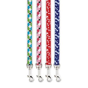 Casual Canine Pooch Patterns Lead - Blue Bone