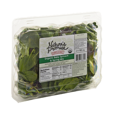 Nature's Promise Organics Organic Baby Spinach & Spring Mix