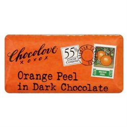 Chocolove Xoxo 20842 Dark Chocolate Orange Peel Mini Bar