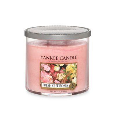 Yankee Candle Fresh Cut Roses Medium Lidded Candle Tumbler