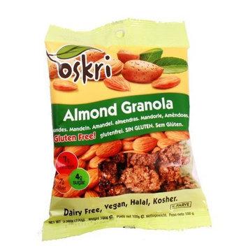 Oskri Organics Oskri Almond Granola, 3.56-Ounce Bags (Pack of 12)