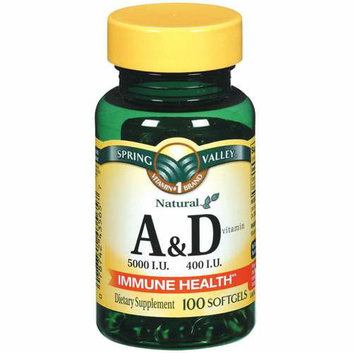 Spring Valley : Vitamin A & D Softgels Dietary Supplement