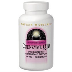 Source Naturals Coenzyme Q10 with Bioperine, 30mg, 120 Softgels