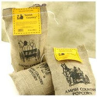 Wabash Valley Farms 41406 Amish Country Gourmet Popping Corn- Burlap Bag Med Yellow