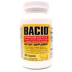 Bacid Caplets Bacid Probiotic Dietary Supplement Caplets - 100 Ea