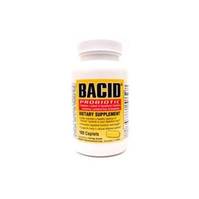 Bacid Caplets Bacid Probiotic Dietary Supplement Caplets - 100 Ea