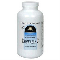 Source Naturals Chewable C Acerola Cherry - 500 mg - 250 Tablets