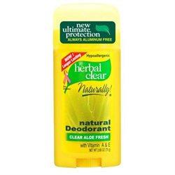 21st Century Herbal Clear Deodorant, Aloe Fresh, 2.65-Ounces (Pack of 3)