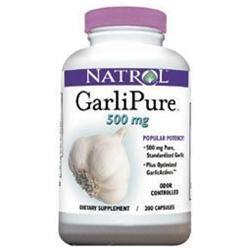 Natrol GarliPure 500 mg Dietary Supplement Capsules