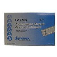Dynarex Stretch Gauze Bandages, Sterile, 3 x 4.1 yards, 4 Boxes of 12