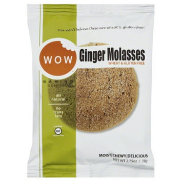 Wow COOKIES, GINGER MOLAS, SNGL, (Pack of 12)
