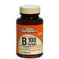 Sundown Timed Release B 100 Complex Vitamin Tablets - 60 Caplets