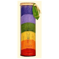 Aloha Bay - Chakra Jar Sri Yantra Multi Color Candle - 17 oz.