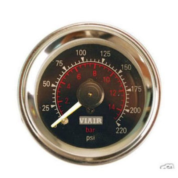 VIAIR 90080 2.0 in. Dual Needle Air Gauge - Black Face