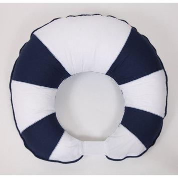 Bacati Little Sailor Hugster Reversible Nursing Pillow Cover (Blue/White)