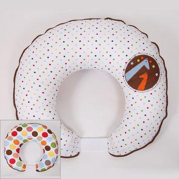 Bacati Baby & Me Reversible Hugster Nursing Pillow Cover (White)