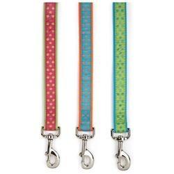 East Side Collection East Side Polka Dot Ribbon 6Ft Dog Lead Green