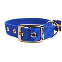 Hamilton Pet Products Double Thick Nylon Deluxe Dog Collar in Blue