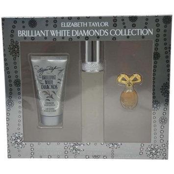 Elizabeth Taylor Brilliant White Diamonds Gift Set for Women with Bonus Celebrity Voice Ringtone, 3 pc