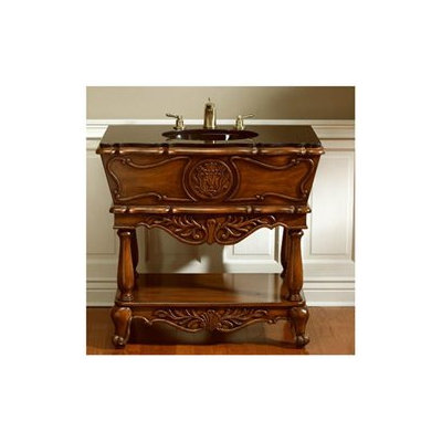 AA Importing Vanity Set in Medium Brown