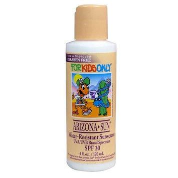 Arizona Sun - Sunscreen Water Resistant SPF 30 For Kids - 4 oz - Total Sun Protection Lotion - Face and Body - Just for Kids