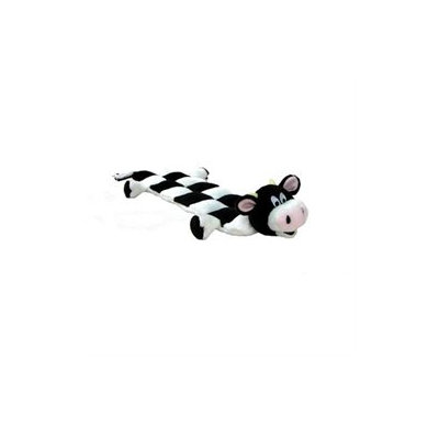 Kyjen Squeaker Mat Long Body Cow Dog Toy
