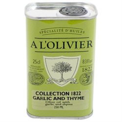 L'Olivier A Olive Oil Infused with Garlic and Thyme, 8.3 oz, 2 pk