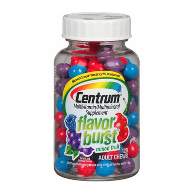 Centrum Flavor Burst Mixed Fruit Multivitamin/Multimineral Supplement Adult Chews