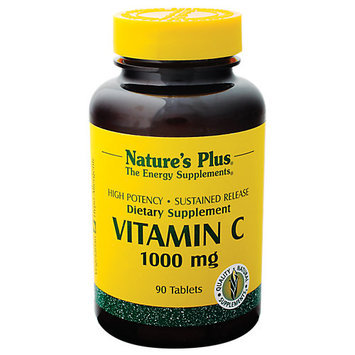 tures Plus Nature's Plus Vitamin C 1000mg Time Release with Rose Hips - 90 - Time/tab